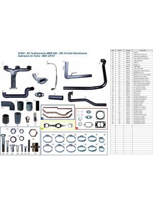 Kit Turbo Caminhão MBB 608D / 708 OM 314 Sem turbo