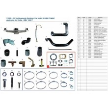 KIT TURBO CAMINHAO D11000/12000 14000/22000/21000/13000 PERKINS Q20B6 6354