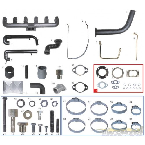 KIT TURBO CAMINHAO 11.140 / 14.140 / 11.130 / 13.130 / 14.140 MWM D229/6