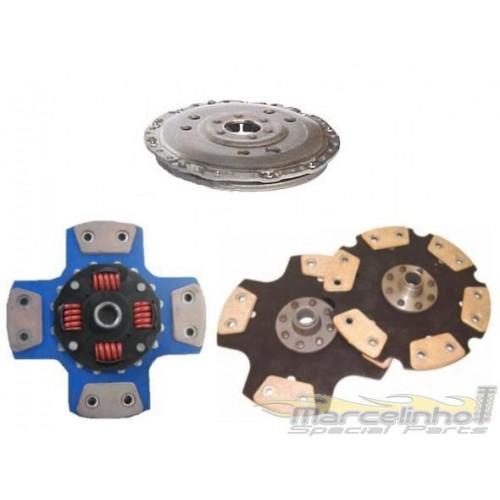 Platô 1200lbs com disco cerâmica VW ESCORT / APOLO / GOLF AP 1.8 E 2.0 ATE 93 - 210 mm - 24 E 28 DENTES