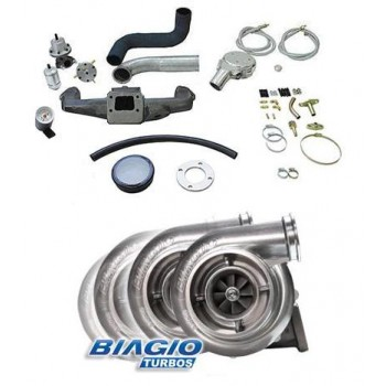 Kit turbo Opala 4cc 2.5 com turbo super .50 refluxo