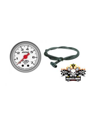 Manômetro Fuel DRAG + Kit instalação pressão combustivel Aeroquipe