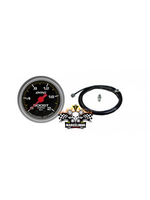 Manômetro turbo Boost EVOLUTION + Kit instalação pressão turbo