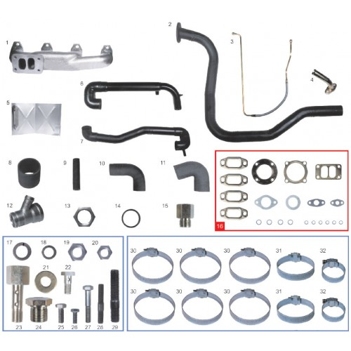 Kit Turbo caminhao 6.90 / 6.90s / 7.9 MWM 229-4