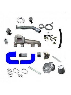 Kit turbo AP MI com mangueira silicone azul para Ar e direção hidraulica